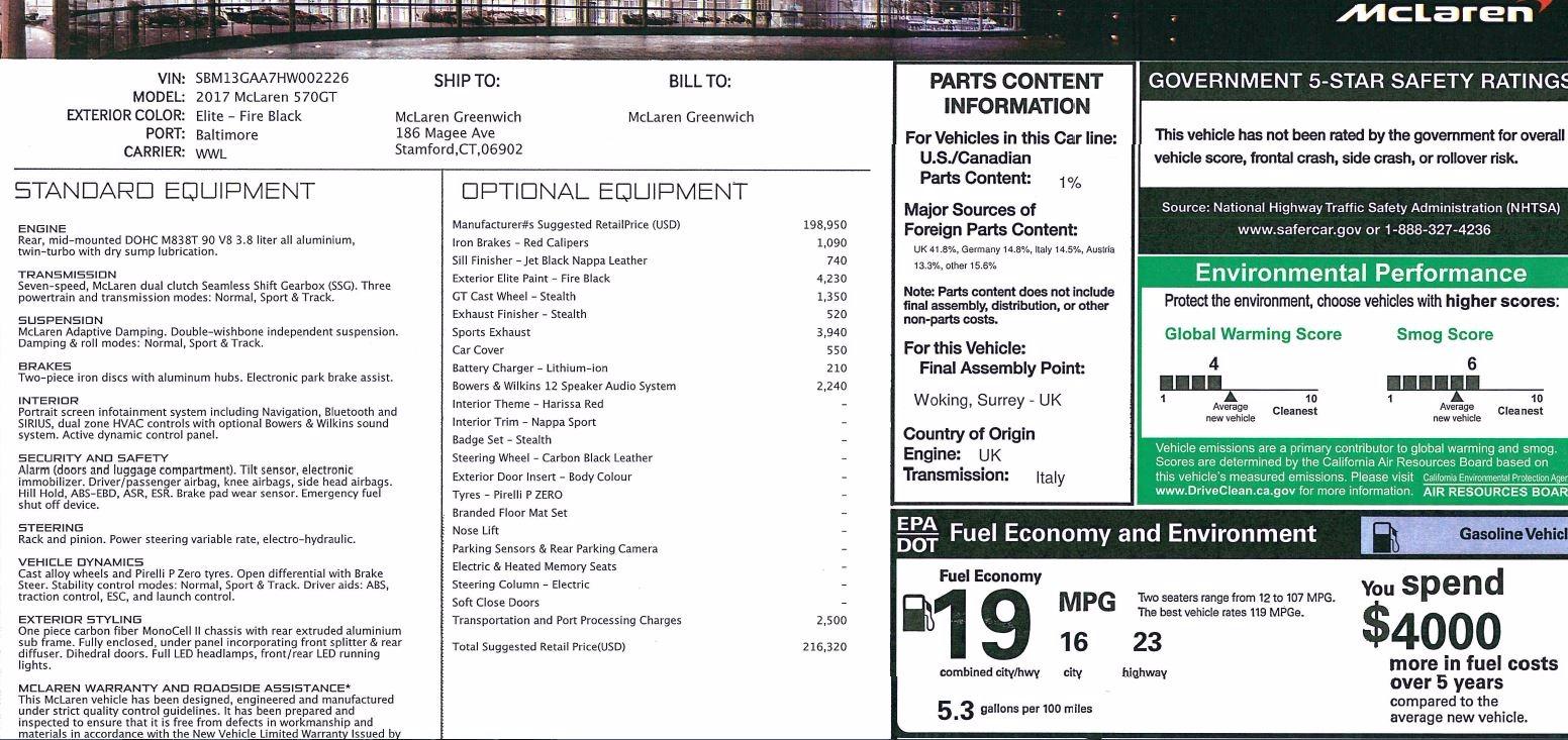 Used 2017 McLaren 570GT  For Sale In Greenwich, CT. Alfa Romeo of Greenwich, MC292 1055_p23