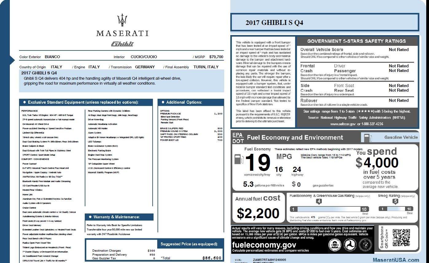 New 2017 Maserati Ghibli S Q4 For Sale In Greenwich, CT. Alfa Romeo of Greenwich, W415 1164_p26
