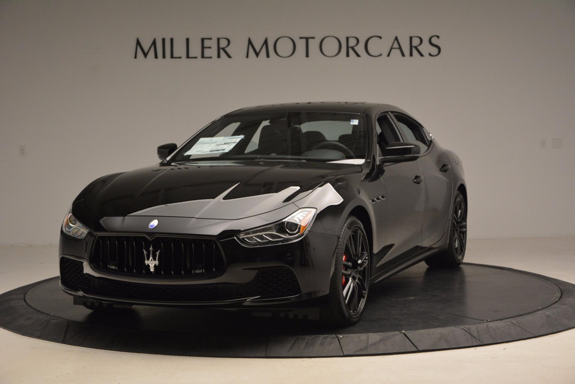 New 2017 Maserati Ghibli SQ4 S Q4 Nerissimo Edition For Sale In Greenwich, CT. Alfa Romeo of Greenwich, W472 1334_main