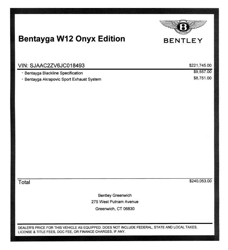 Used 2018 Bentley Bentayga Onyx For Sale In Greenwich, CT. Alfa Romeo of Greenwich, 7485 1549_p32