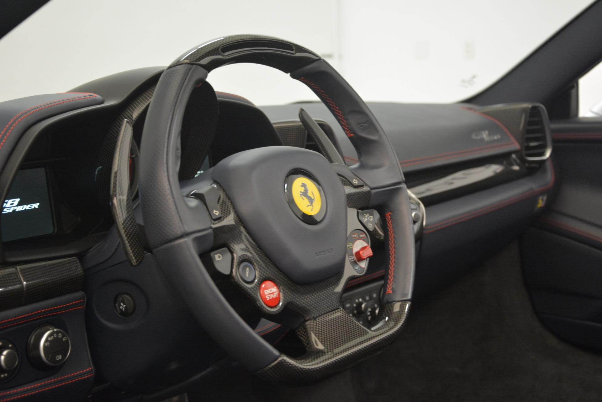 Used 2015 Ferrari 458 Spider  For Sale In Greenwich, CT. Alfa Romeo of Greenwich, 4574 1667_p26