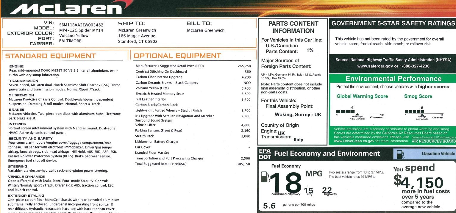Used 2014 McLaren MP4-12C Spider For Sale In Greenwich, CT. Alfa Romeo of Greenwich, 3134 2057_p32