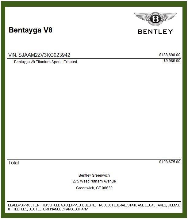 Used 2019 Bentley Bentayga V8 For Sale In Greenwich, CT. Alfa Romeo of Greenwich, B1364 2162_p31