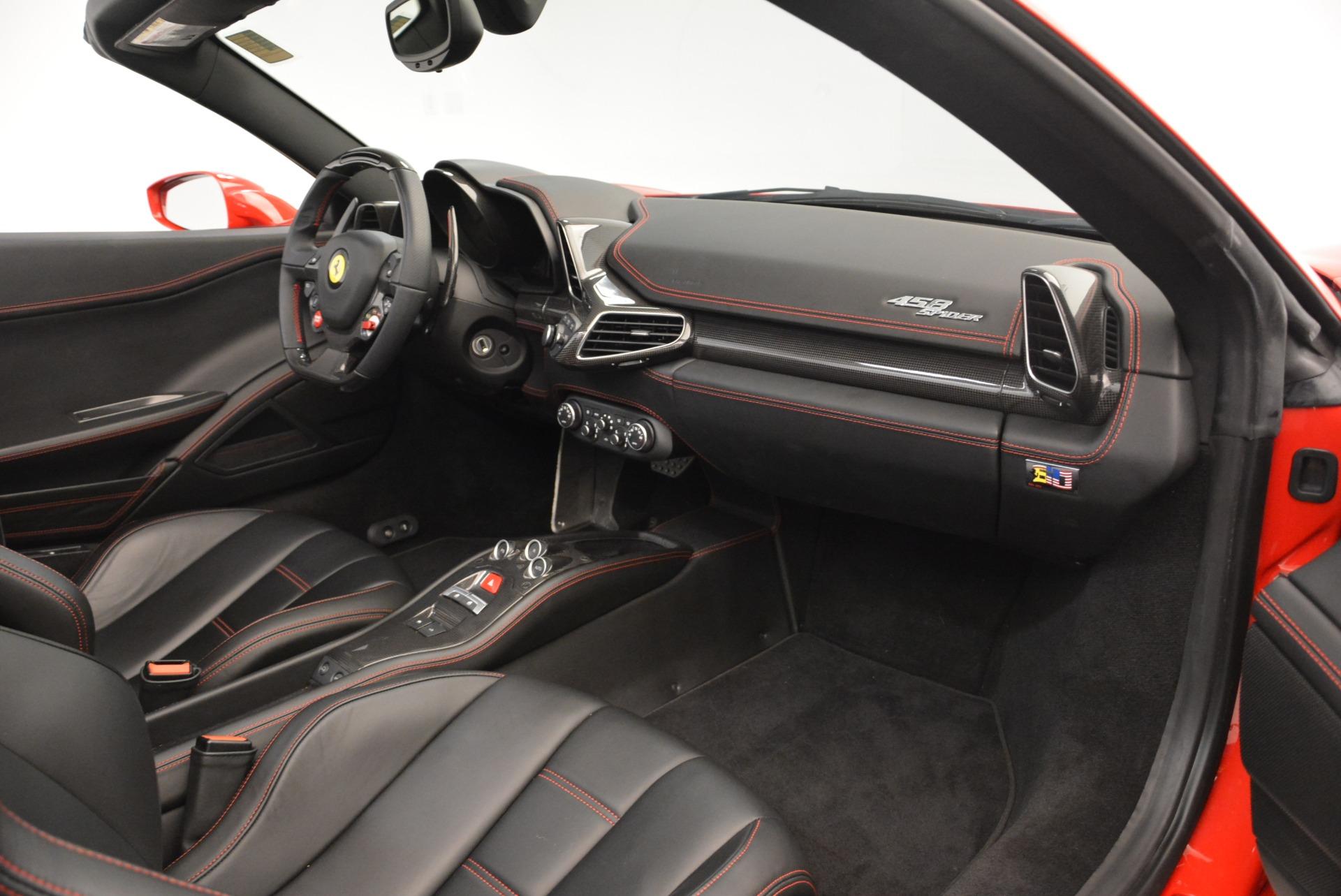 Used 2015 Ferrari 458 Spider  For Sale In Greenwich, CT. Alfa Romeo of Greenwich, 4483A 2369_p30