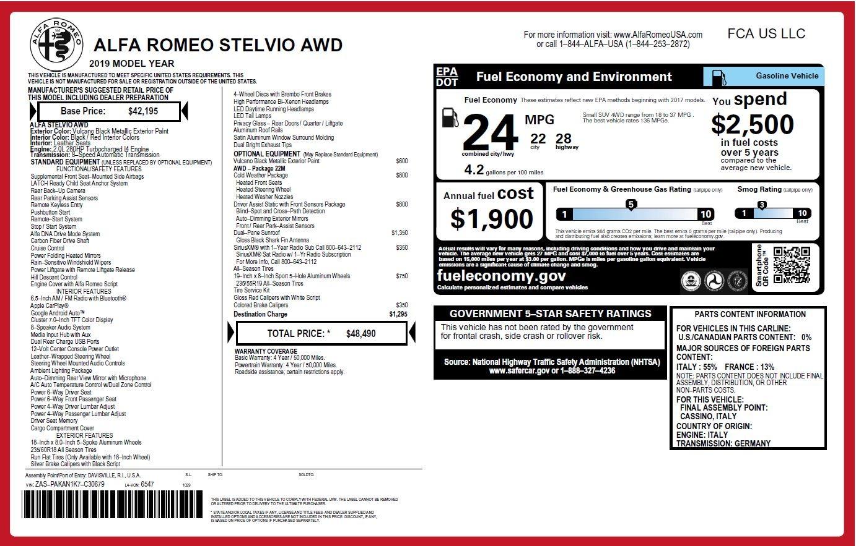 New 2019 Alfa Romeo Stelvio  For Sale In Greenwich, CT. Alfa Romeo of Greenwich, L530 2764_p27