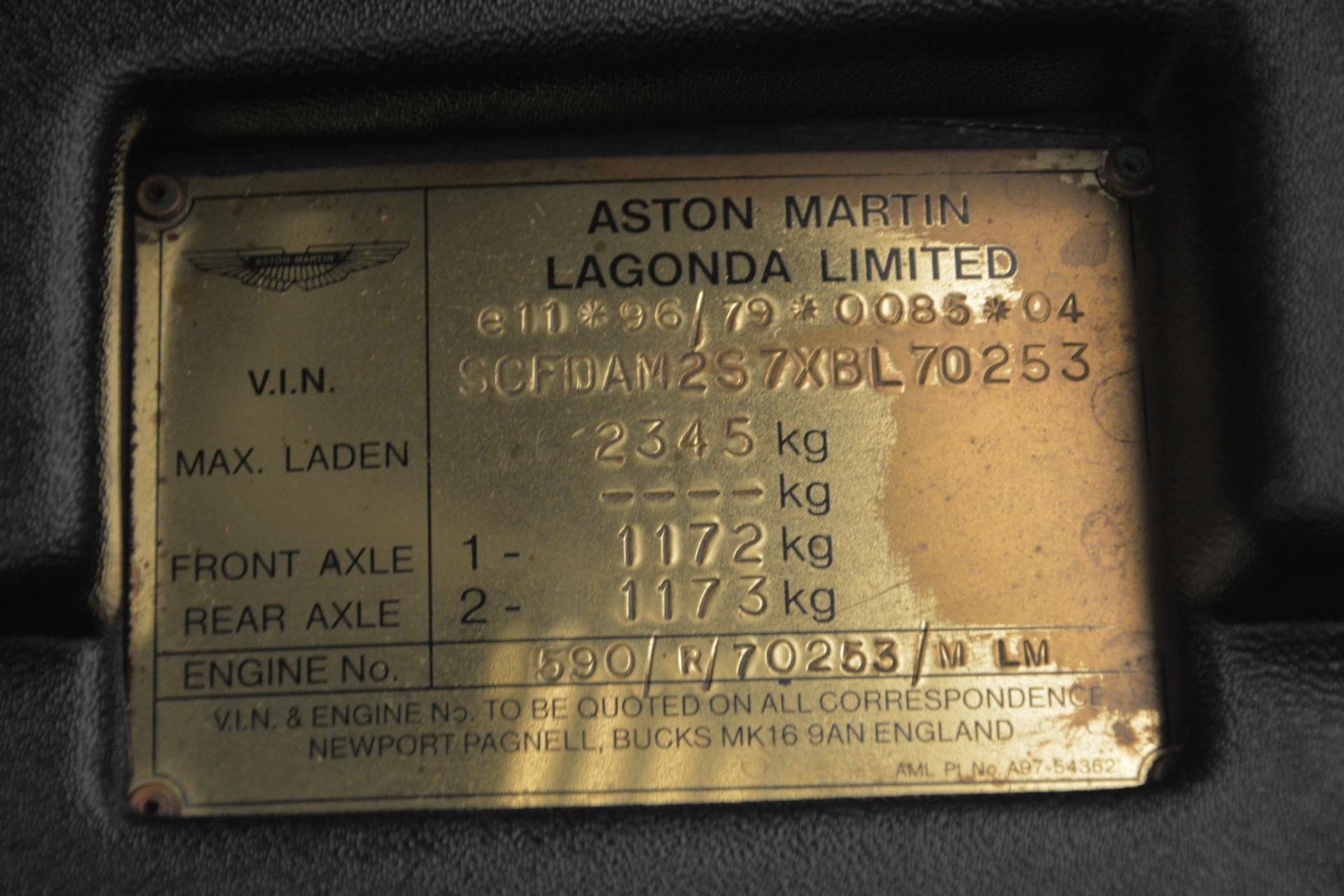 Used 1999 Aston Martin V8 Vantage Le Mans V600 Coupe For Sale In Greenwich, CT. Alfa Romeo of Greenwich, 7449C 2789_p36