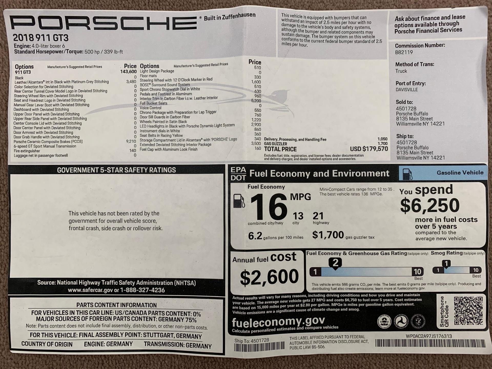Used 2018 Porsche 911 GT3 For Sale In Greenwich, CT. Alfa Romeo of Greenwich, 7530 3056_p33