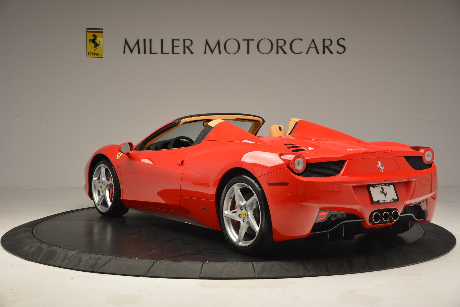 Used 2013 Ferrari 458 Spider  For Sale In Greenwich, CT. Alfa Romeo of Greenwich, F1891A 3057_p5
