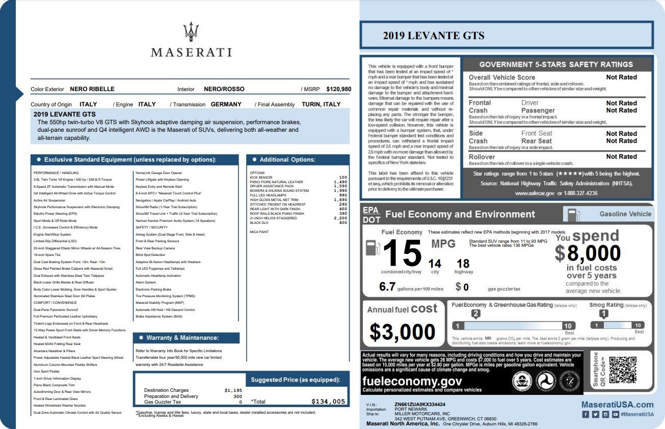 New 2019 Maserati Levante GTS For Sale In Greenwich, CT. Alfa Romeo of Greenwich, M2295 3140_p22