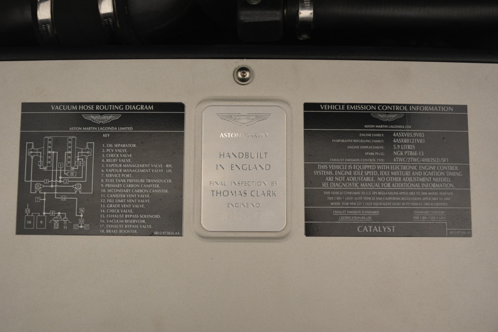 Used 2004 Aston Martin V12 Vanquish  For Sale In Greenwich, CT. Alfa Romeo of Greenwich, 7557C 3160_p18