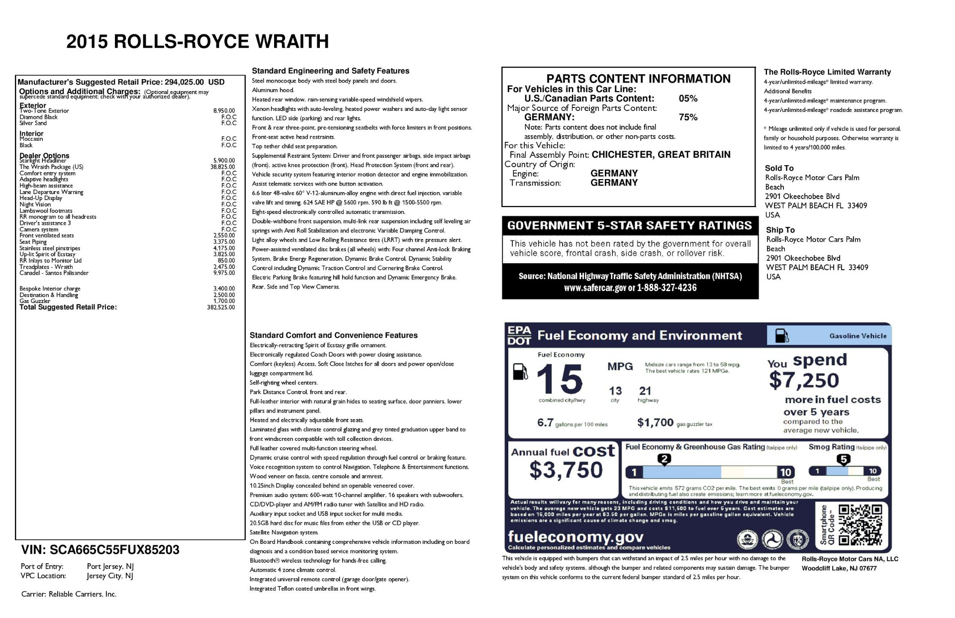 Used 2015 Rolls-Royce Wraith  For Sale In Greenwich, CT. Alfa Romeo of Greenwich, 7554 3184_p33