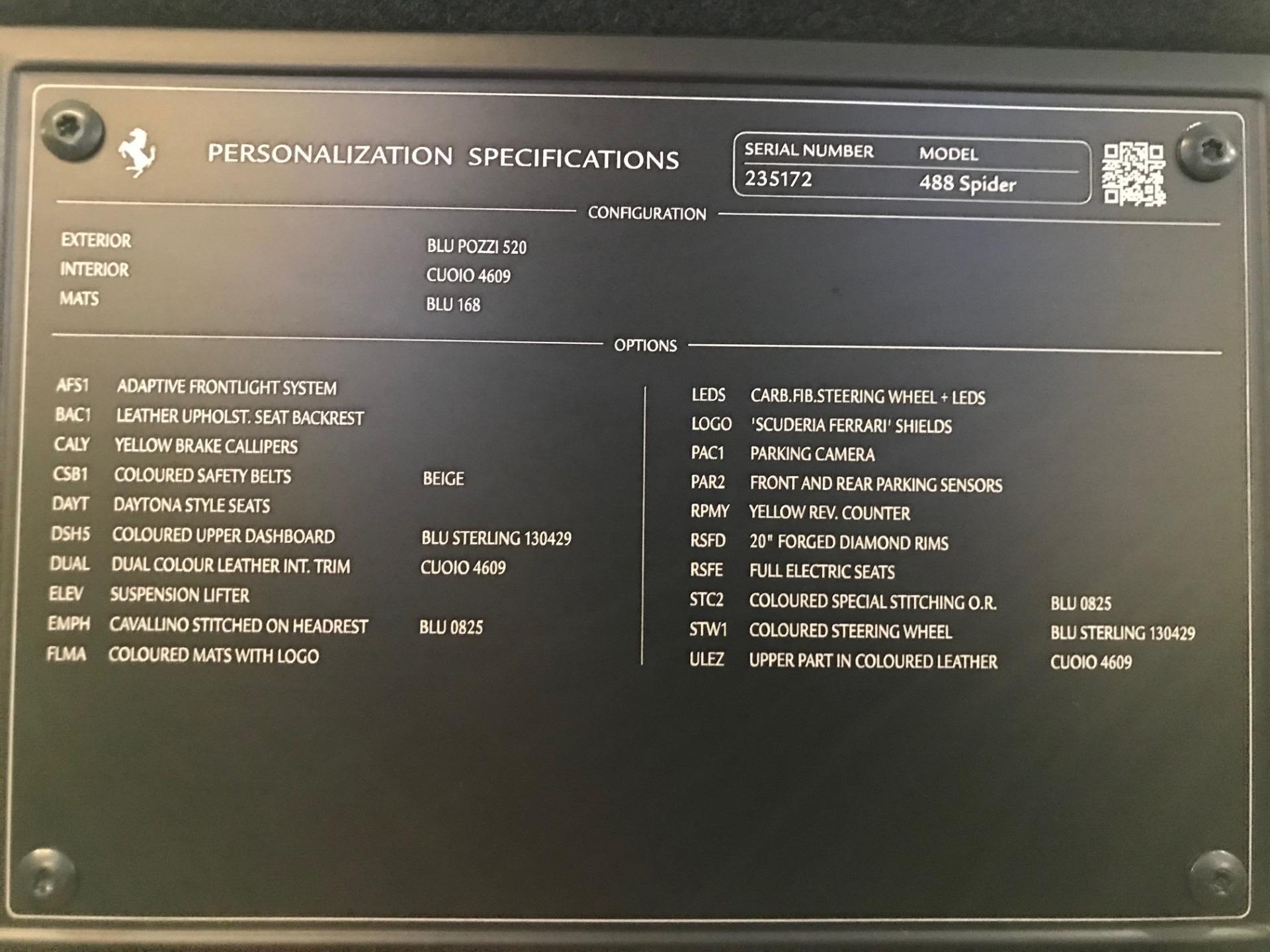 Used 2018 Ferrari 488 Spider  For Sale In Greenwich, CT. Alfa Romeo of Greenwich, 4597 3371_p32