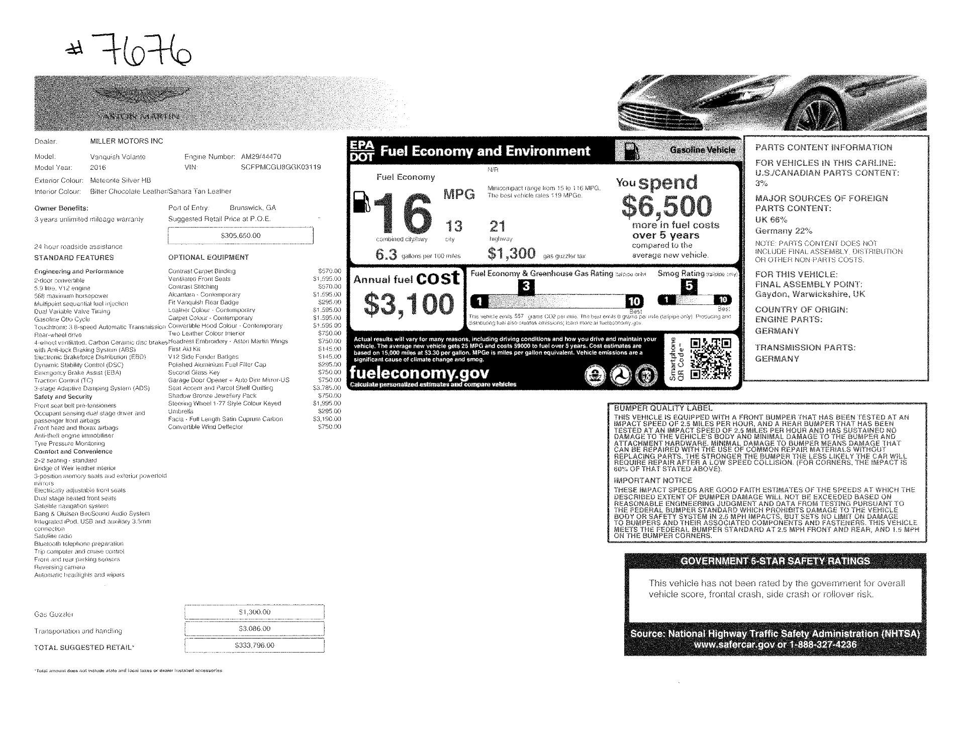 Used 2016 Aston Martin Vanquish Volante For Sale In Greenwich, CT. Alfa Romeo of Greenwich, 7676 3542_p28