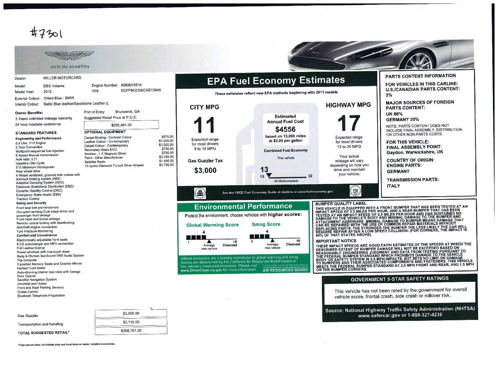 Used 2012 Aston Martin DBS Volante For Sale In Greenwich, CT. Alfa Romeo of Greenwich, 7301 644_p37