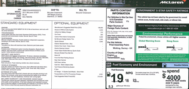New 2017 McLaren 570GT  For Sale In Greenwich, CT. Alfa Romeo of Greenwich, MC279 832_p24