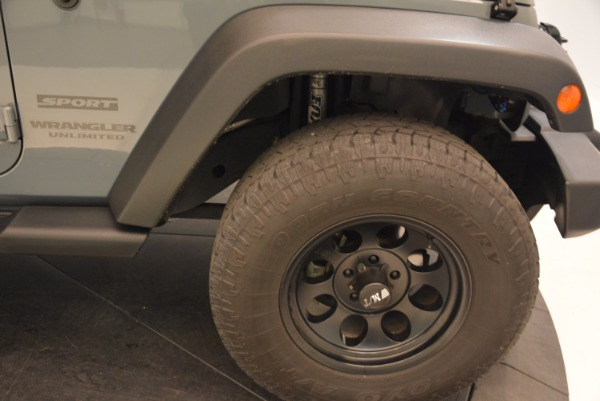 Used 2014 Jeep Wrangler Unlimited Sport for sale Sold at Alfa Romeo of Greenwich in Greenwich CT 06830 26