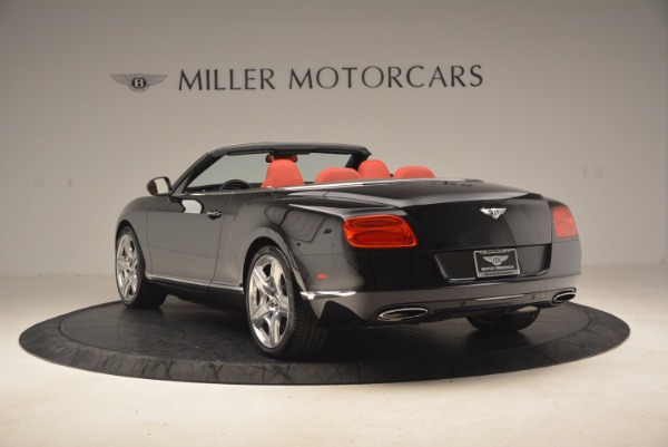 Used 2012 Bentley Continental GT W12 Convertible for sale Sold at Alfa Romeo of Greenwich in Greenwich CT 06830 5