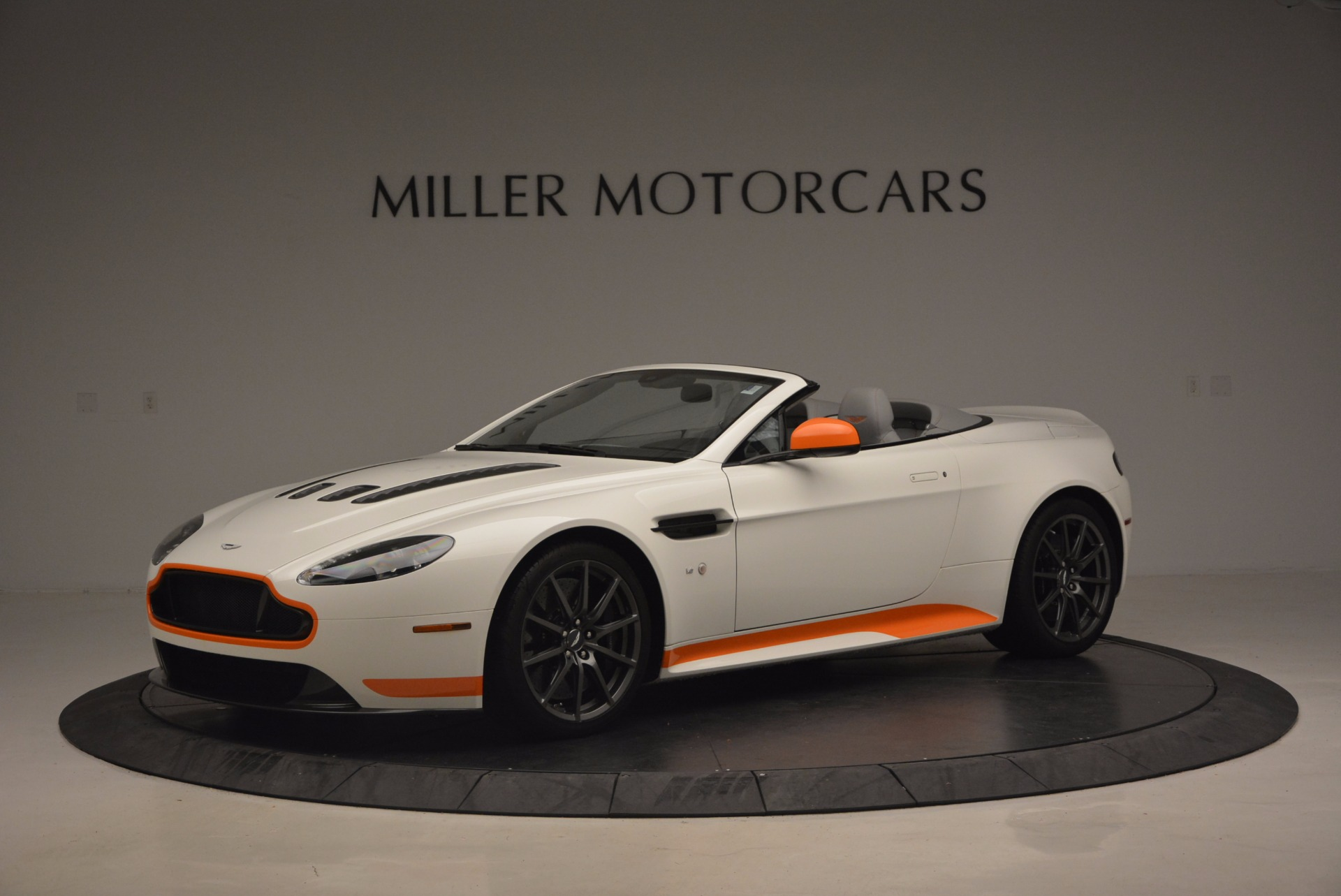 Used 2017 Aston Martin V12 Vantage S Convertible for sale Sold at Alfa Romeo of Greenwich in Greenwich CT 06830 1