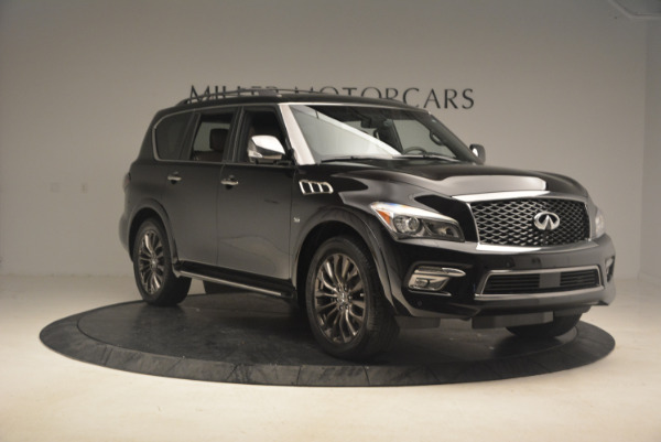 Used 2015 INFINITI QX80 Limited 4WD for sale Sold at Alfa Romeo of Greenwich in Greenwich CT 06830 11