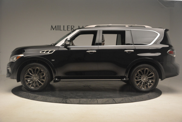 Used 2015 INFINITI QX80 Limited 4WD for sale Sold at Alfa Romeo of Greenwich in Greenwich CT 06830 3