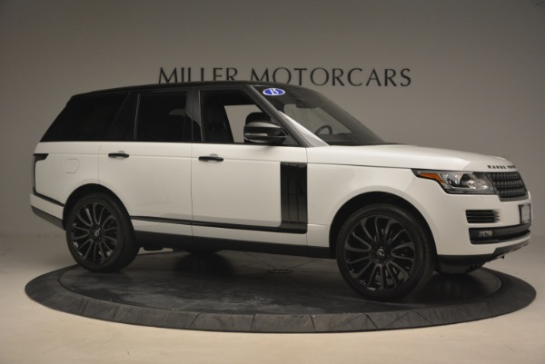 Used 2015 Land Rover Range Rover Supercharged for sale Sold at Alfa Romeo of Greenwich in Greenwich CT 06830 10
