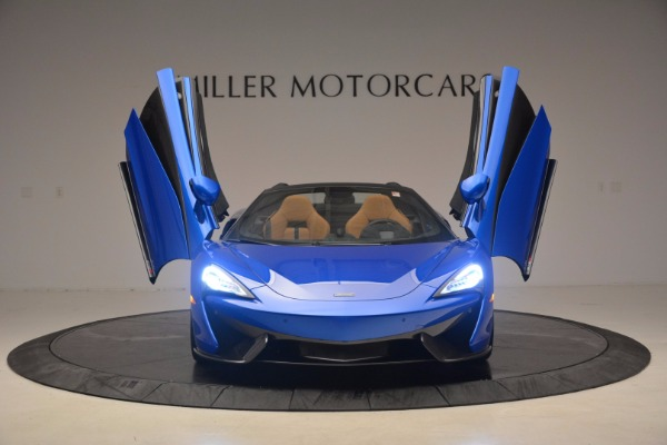 Used 2018 McLaren 570S Spider for sale Call for price at Alfa Romeo of Greenwich in Greenwich CT 06830 13