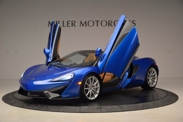 Used 2018 McLaren 570S Spider for sale Call for price at Alfa Romeo of Greenwich in Greenwich CT 06830 14