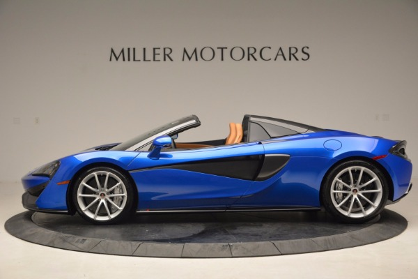 Used 2018 McLaren 570S Spider for sale Call for price at Alfa Romeo of Greenwich in Greenwich CT 06830 3