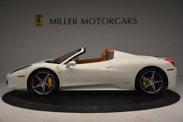 Used 2012 Ferrari 458 Spider for sale Sold at Alfa Romeo of Greenwich in Greenwich CT 06830 3