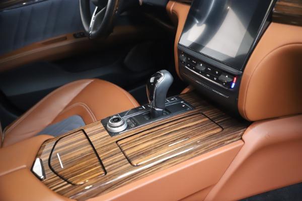 Used 2017 Maserati Quattroporte SQ4 GranLusso/ Zegna for sale $62,900 at Alfa Romeo of Greenwich in Greenwich CT 06830 22