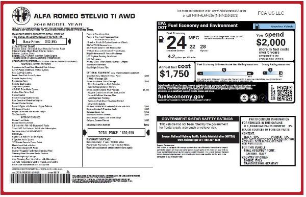 New 2018 Alfa Romeo Stelvio Ti Q4 for sale Sold at Alfa Romeo of Greenwich in Greenwich CT 06830 27