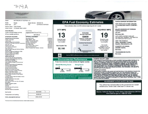 Used 2012 Aston Martin Rapide for sale Sold at Alfa Romeo of Greenwich in Greenwich CT 06830 23