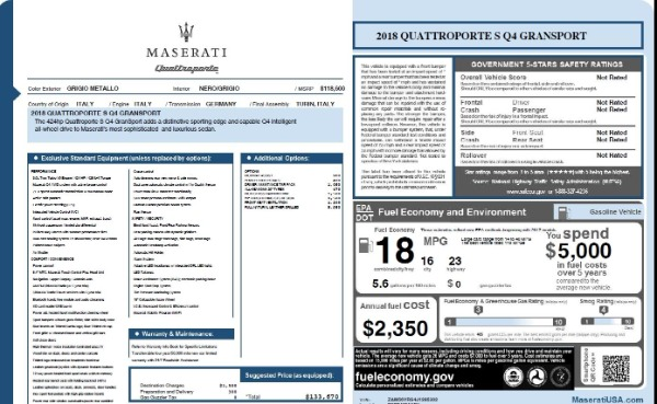 Used 2018 Maserati Quattroporte S Q4 Gransport for sale $69,900 at Alfa Romeo of Greenwich in Greenwich CT 06830 26