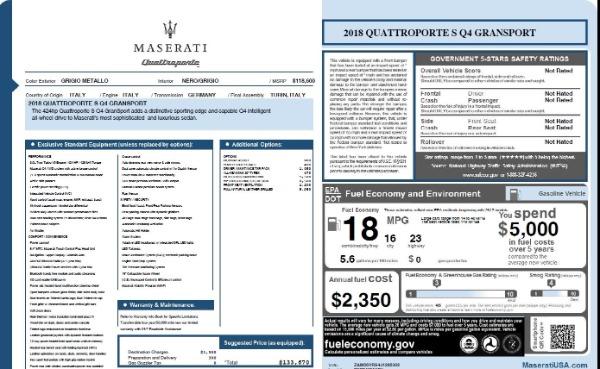 Used 2018 Maserati Quattroporte S Q4 Gransport for sale Sold at Alfa Romeo of Greenwich in Greenwich CT 06830 26