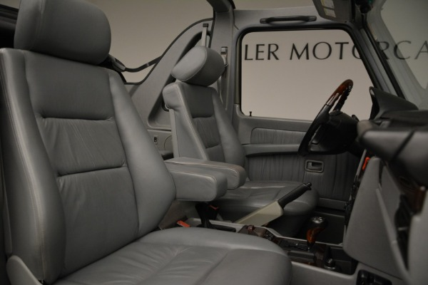Used 1999 Mercedes Benz G500 Cabriolet for sale Sold at Alfa Romeo of Greenwich in Greenwich CT 06830 28