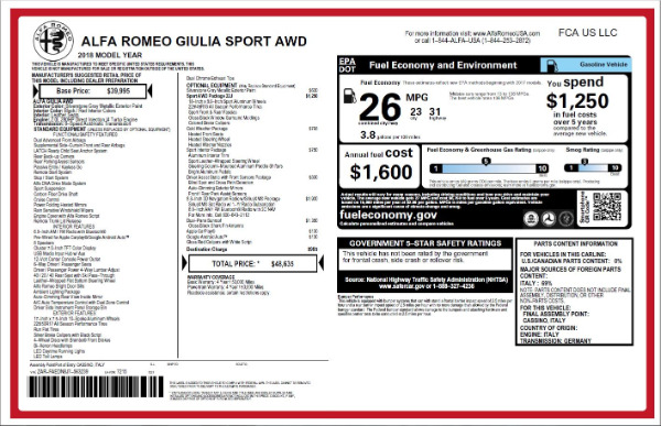 New 2018 Alfa Romeo Giulia Ti Sport Q4 for sale Sold at Alfa Romeo of Greenwich in Greenwich CT 06830 26