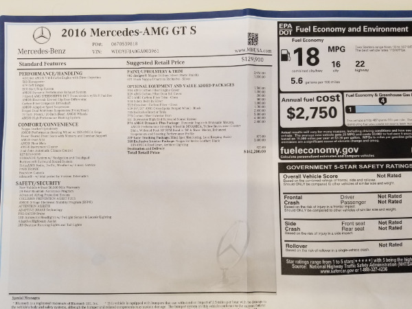 Used 2016 Mercedes-Benz AMG GT S for sale Sold at Alfa Romeo of Greenwich in Greenwich CT 06830 25
