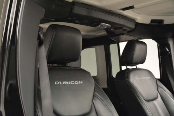 Used 2016 Jeep Wrangler Unlimited Rubicon for sale Sold at Alfa Romeo of Greenwich in Greenwich CT 06830 20