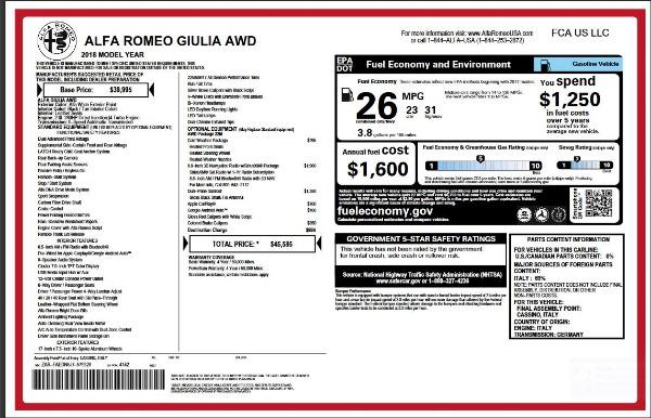 New 2018 Alfa Romeo Giulia for sale Sold at Alfa Romeo of Greenwich in Greenwich CT 06830 2