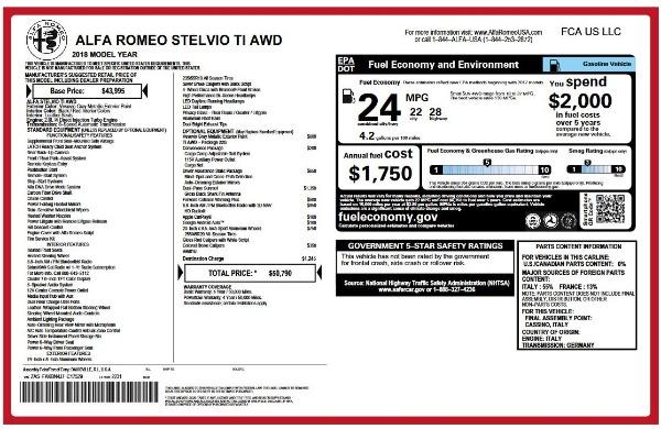 New 2018 Alfa Romeo Stelvio Ti Q4 for sale Sold at Alfa Romeo of Greenwich in Greenwich CT 06830 26
