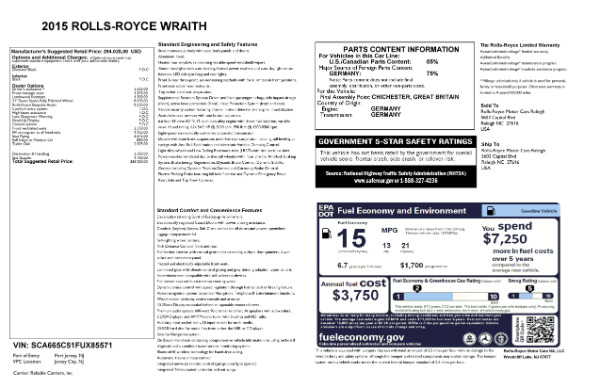 Used 2015 Rolls-Royce Wraith for sale Sold at Alfa Romeo of Greenwich in Greenwich CT 06830 24