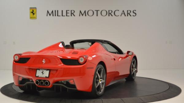 Used 2015 Ferrari 458 Spider for sale Sold at Alfa Romeo of Greenwich in Greenwich CT 06830 8