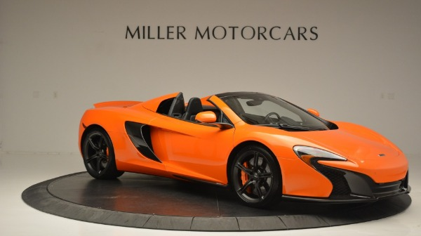 Used 2015 McLaren 650S Spider Convertible for sale Sold at Alfa Romeo of Greenwich in Greenwich CT 06830 10