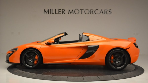 Used 2015 McLaren 650S Spider Convertible for sale Sold at Alfa Romeo of Greenwich in Greenwich CT 06830 3
