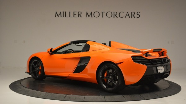 Used 2015 McLaren 650S Spider Convertible for sale Sold at Alfa Romeo of Greenwich in Greenwich CT 06830 4