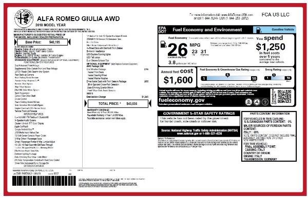 New 2018 Alfa Romeo Giulia Q4 for sale Sold at Alfa Romeo of Greenwich in Greenwich CT 06830 26