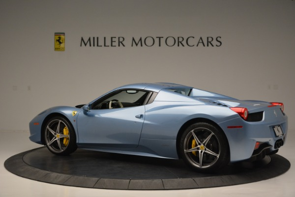 Used 2012 Ferrari 458 Spider for sale Sold at Alfa Romeo of Greenwich in Greenwich CT 06830 16