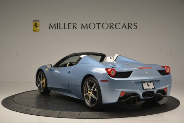 Used 2012 Ferrari 458 Spider for sale Sold at Alfa Romeo of Greenwich in Greenwich CT 06830 5