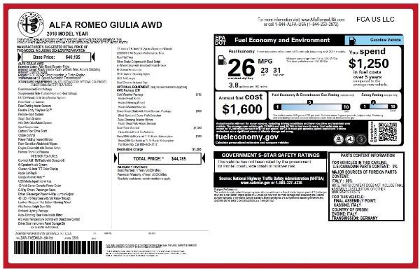 New 2018 Alfa Romeo Giulia Q4 for sale Sold at Alfa Romeo of Greenwich in Greenwich CT 06830 25