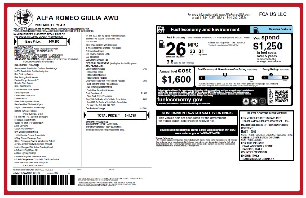 New 2018 Alfa Romeo Giulia Q4 for sale Sold at Alfa Romeo of Greenwich in Greenwich CT 06830 2